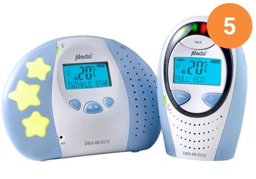 Alecto DBX 88 ECO DECT is een energiezuinige babyfoon