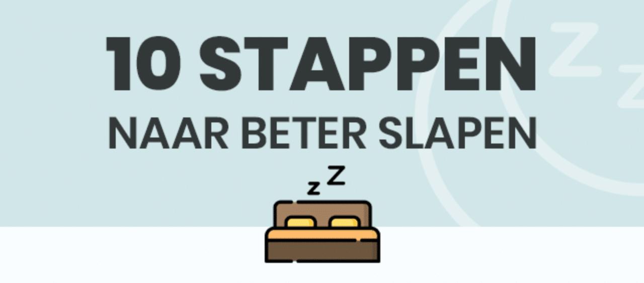 Infographic: 10 stappen naar beter slapen